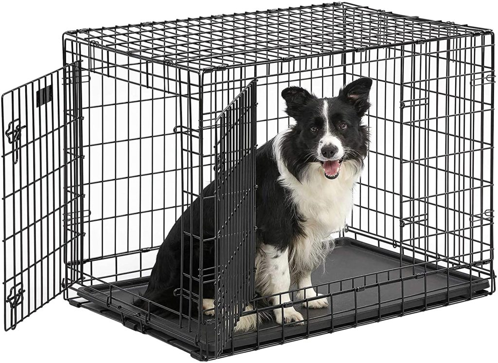 Ultima Pro (Professional Series & Most Durable MidWest Dog Crate) Extra-Strong Double Door Folding Metal Dog Crate